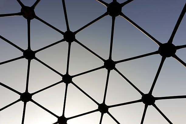 Geodesic dome silhouette stock photo