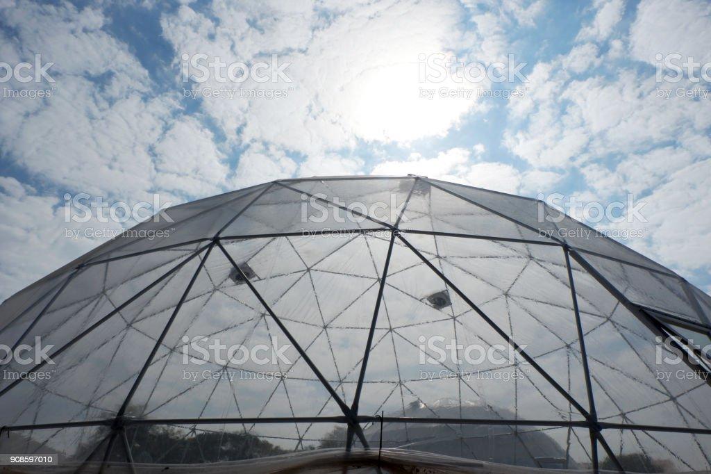Geodesic plastic dome. stock photo