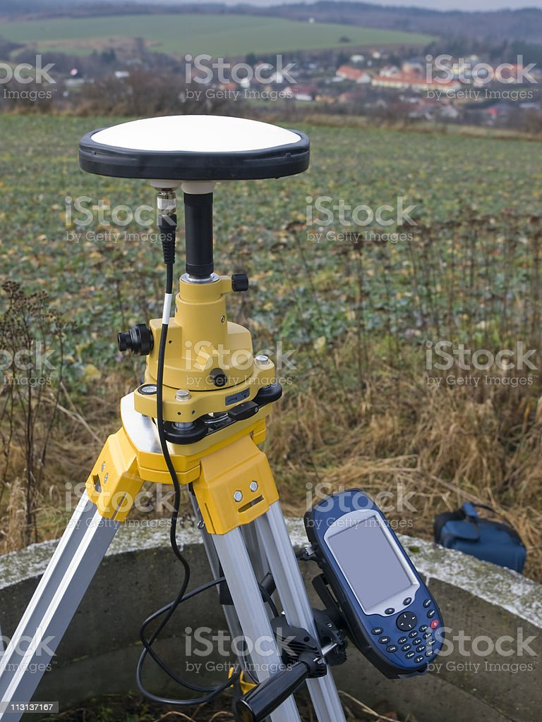 Geodetic GPS royalty-free stock photo