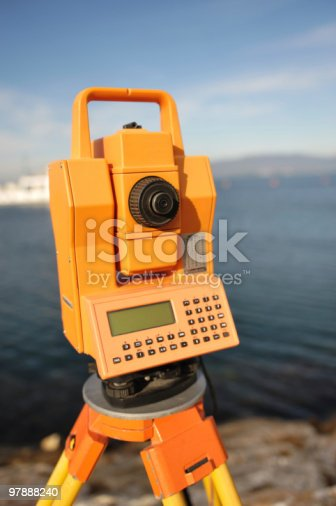 istock Geodetic total station 97888240