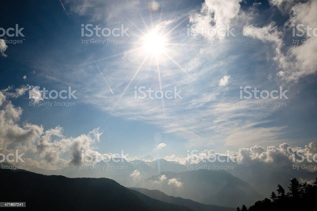 Geoengineering in the skies. royalty-free stock photo