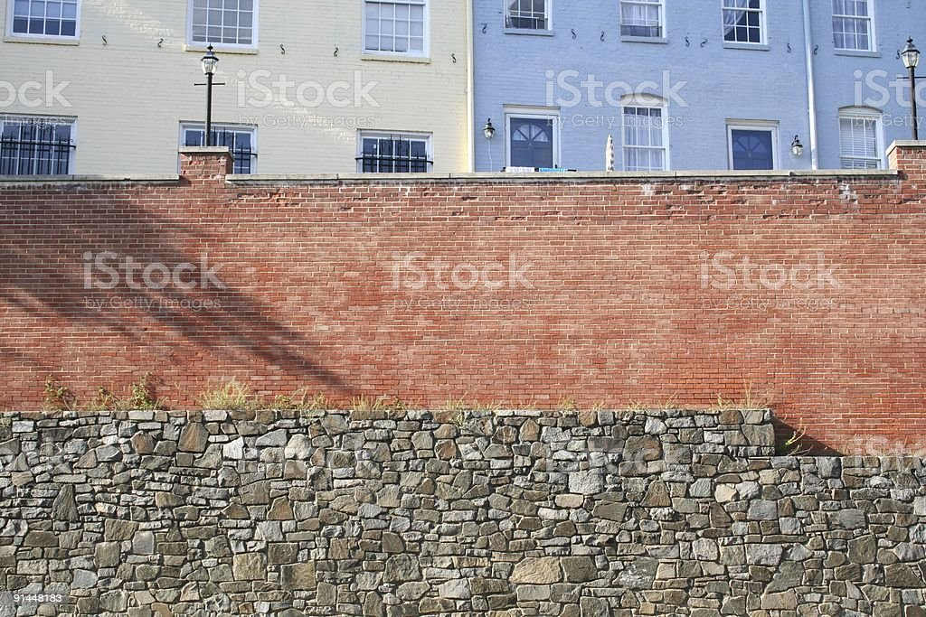 geogetown houses along the canal royalty-free stock photo