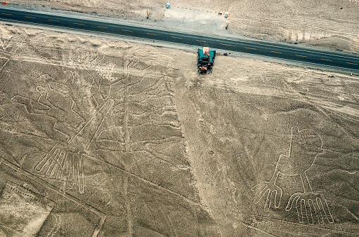istock Geoglyphs and lines in the Nazca desert.  Peru 500081248
