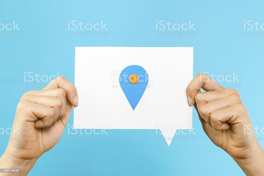 Geographic location concept royalty-free stock photo