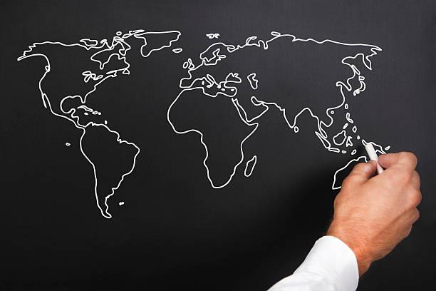 aula de geografia - mapa mundi imagens e fotografias de stock