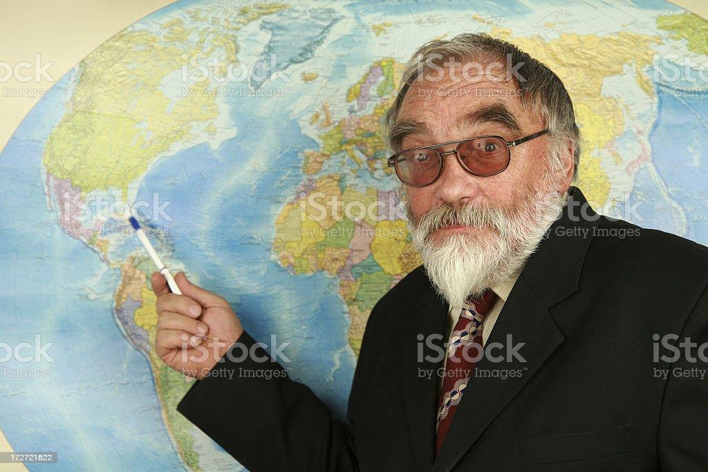 geography teacher royalty-free stock photo