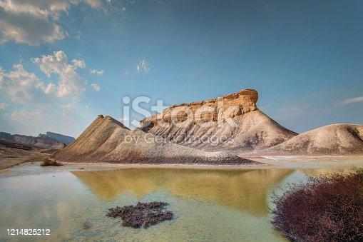 Beautiful Chah-kooh canyon, located  in Geopark of Qeshm Island, Hormozgan province,Iran