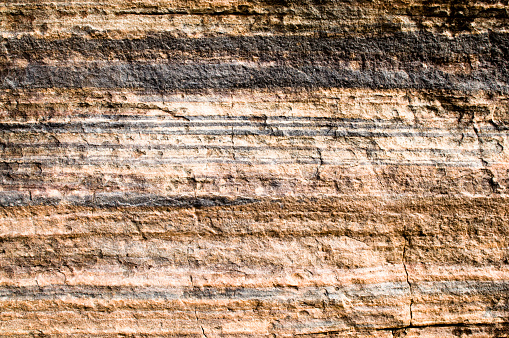 An Australian cliff face showing rock strata.