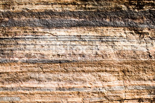 An Australian cliff face showing rock strata.