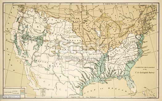Geological map of the Unites States