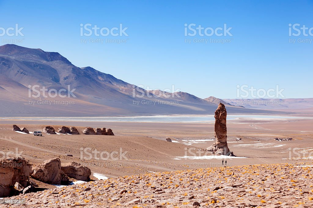 Geological monolith stock photo
