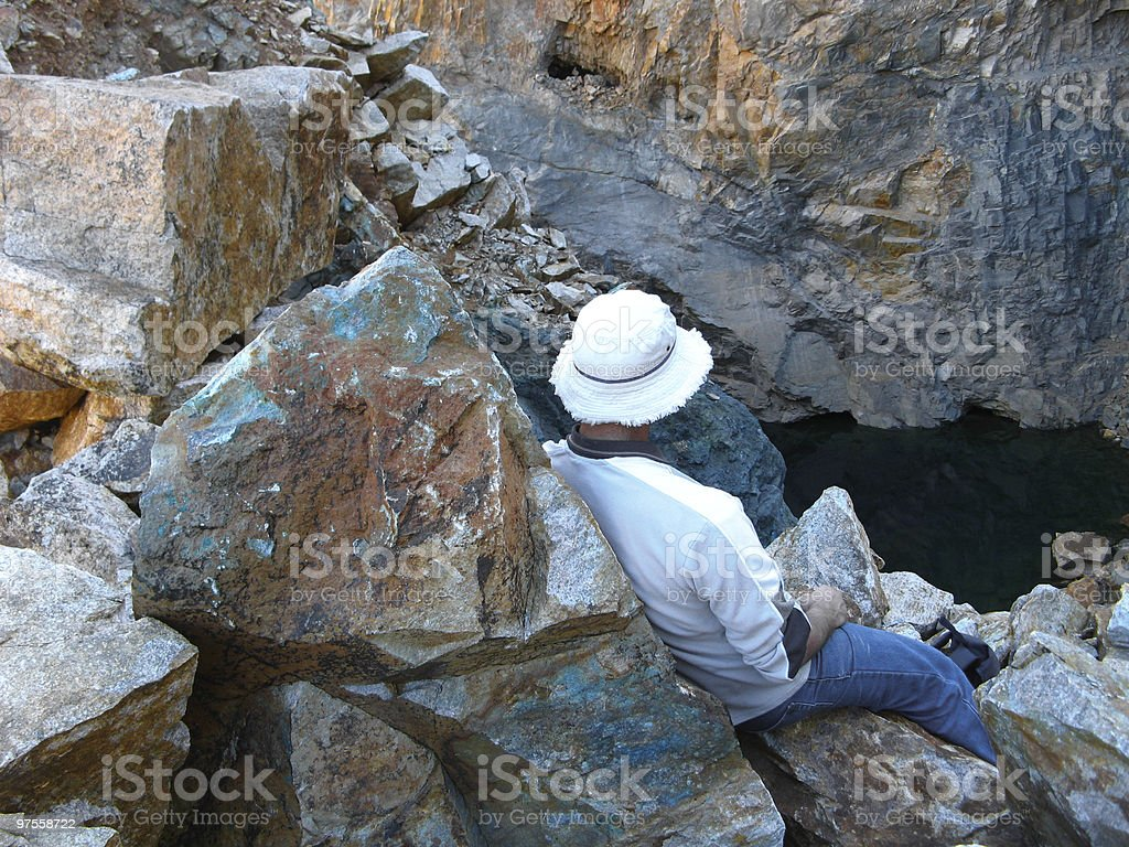 Geologist investigating site royalty-free stock photo