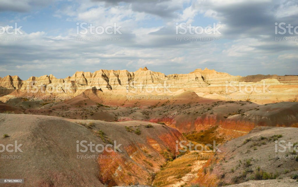 Geology Rock Formations Badlands National Park South Dakota stock photo