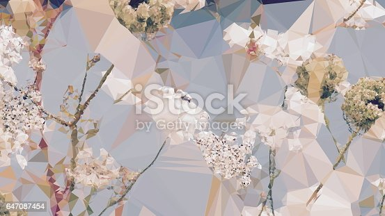 istock Geometric Abstract Florals 647087454