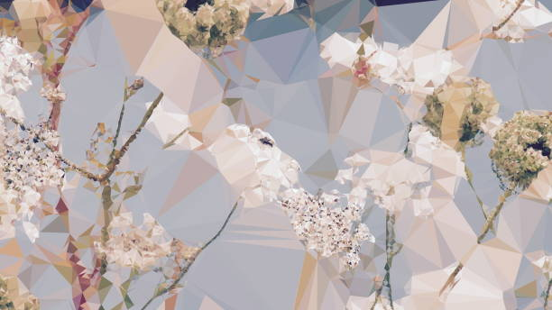 Geometric Abstract Florals stock photo
