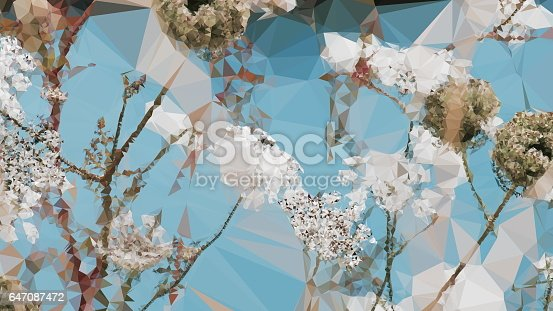 647090632 istock photo Geometric Abstract Florals 647087472