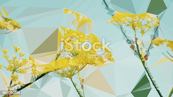 647090632 istock photo Geometric Abstract Florals 647090238