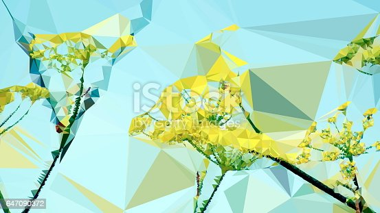 istock Geometric Abstract Florals 647090372