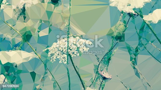 647090632 istock photo Geometric Abstract Florals 647090534