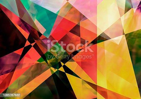 Angular colorful geometric abstract