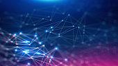 istock Geometric and Futuristic digital blockchain fintech technology. 1139805930