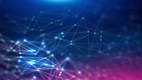 Geometric And Futuristic Digital Blockchain Fintech Technology - zdjęcia stockowe i więcej obrazów Abstrakcja