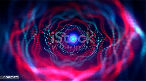 istock Geometric and science technology and Futuristic digital blockchain technology. 1156703775