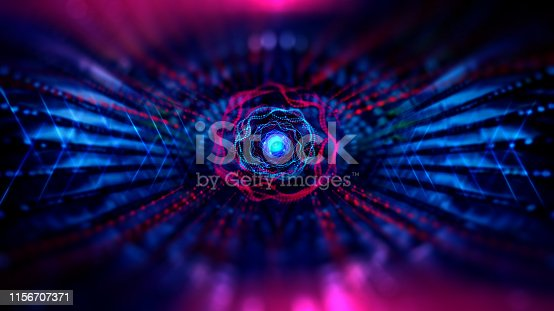 istock Geometric and science technology and Futuristic digital blockchain technology. 1156707371