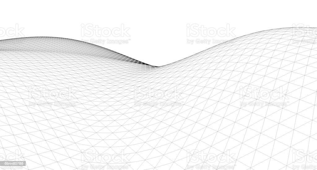 Geometric background, Abstract sketch, Architectural ,Construction ,Wireframe stock photo