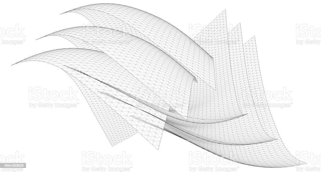 Fondo Geométrico Dibujo Abstracto Arquitectura Construcción