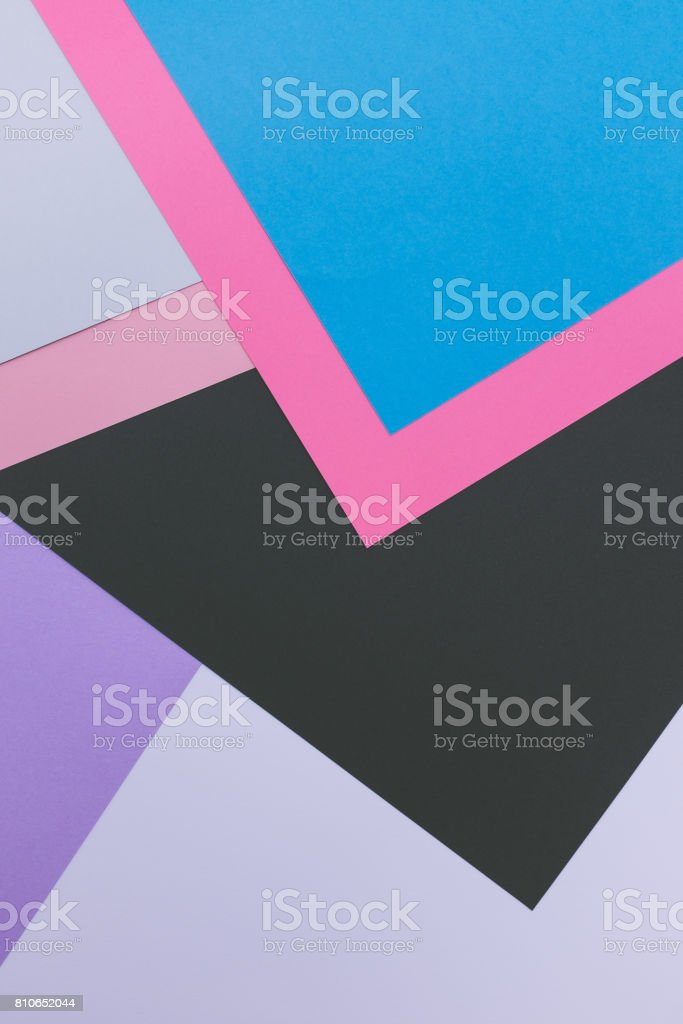 geometric background of colored paper. stock photo