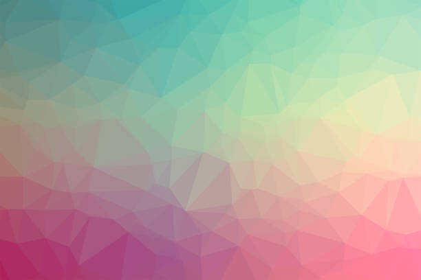 geometric background with triangular polygons.abstract low poly design.creative polygonal template - flat design stock photos and pictures
