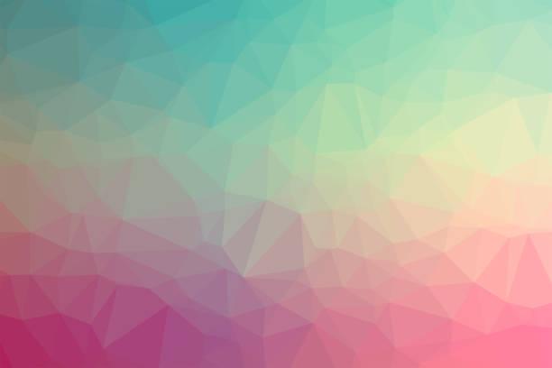 fond géométrique avec des polygones triangulaires. abstrait poly basse design. création modèle polygonal - design plat photos et images de collection