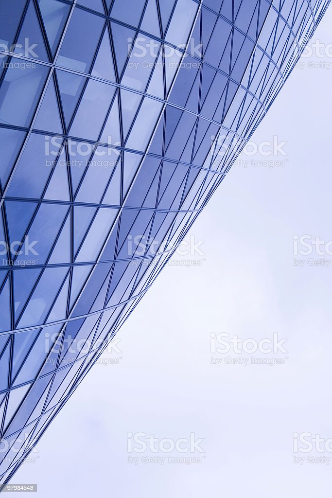 Geometric building detail stock photo