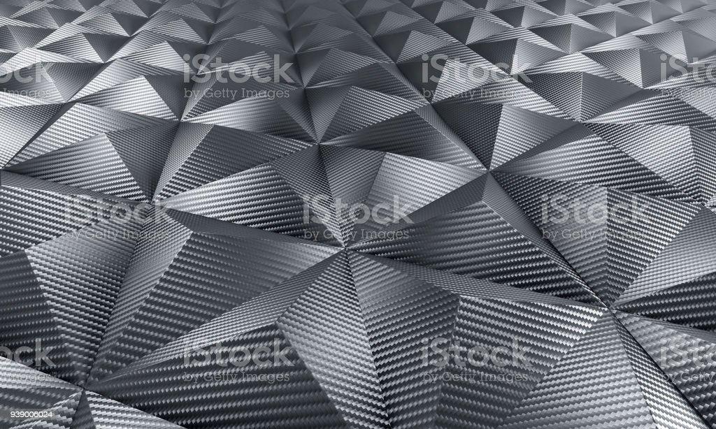 Geometric Carbon Fiber Background Stock Photo - Download