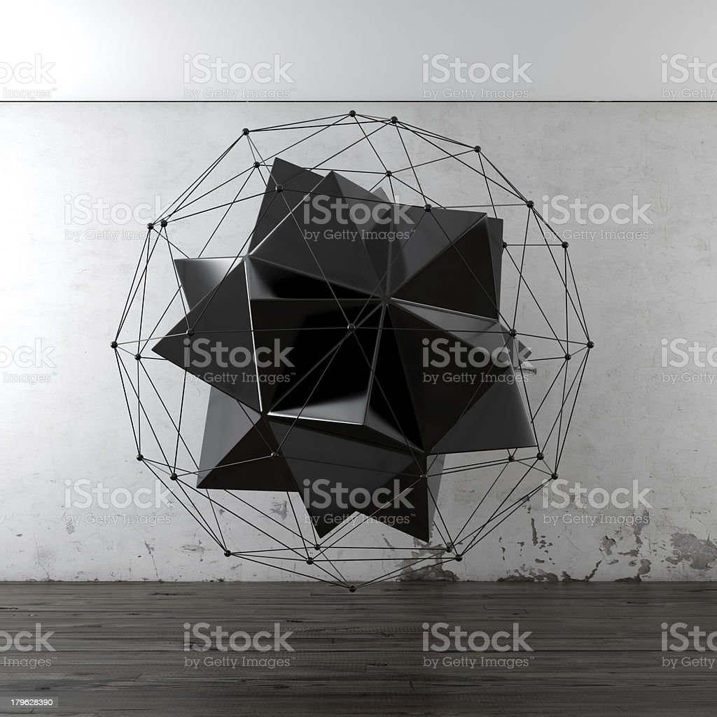 Geometric composition in interior royalty-free stock photo