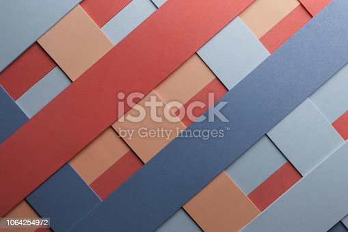 532107582 istock photo Geometric composition with colored elements for abstract background, 1064254972