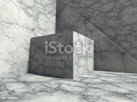 611897876istockphoto Geometric Concrete Cubes Abstract Construction Under Sunlight. A 611899950