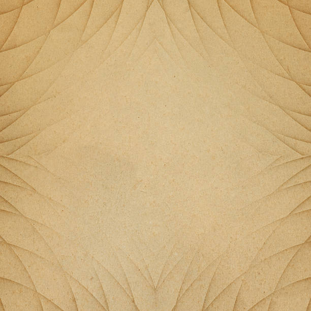 geometric design on brown worn paper - art deco stock photos and pictures