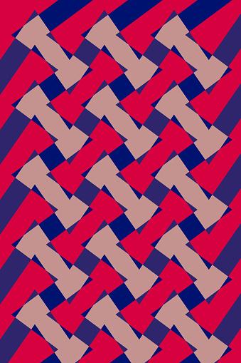 Geometric Design Pattern Interlaced - Diseño de patron Geométrico Entrelazado