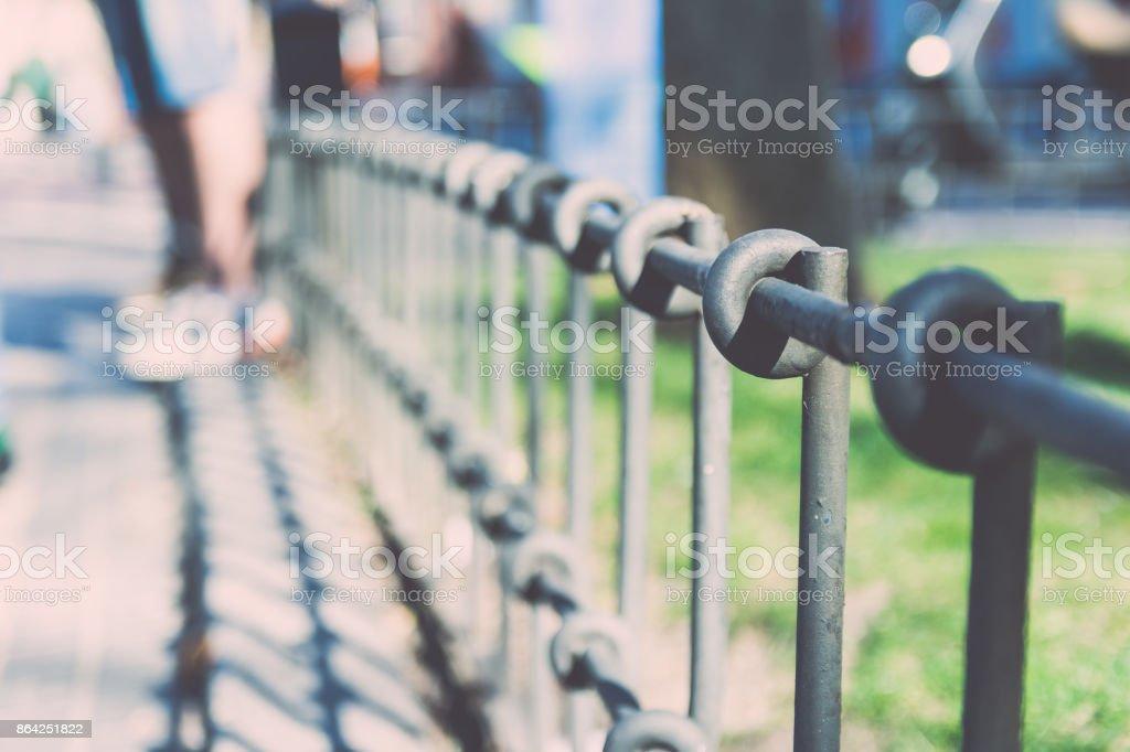 Geometric Detail of a Railing. royalty-free stock photo