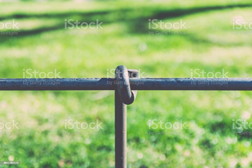 Geometric Detail of a Railing. royalty-free stock photo