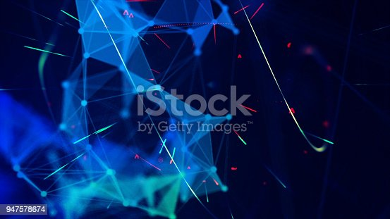 istock Geometric fragment abstract technology background 947578674