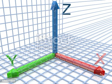 istock geometric graph on the axes 530931533