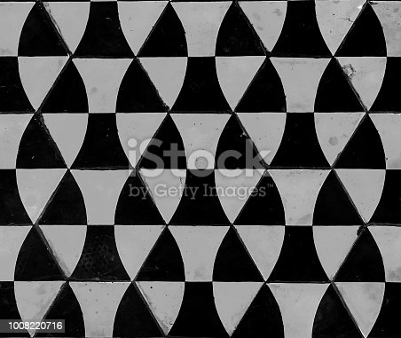 Geometric gray cement tile texture