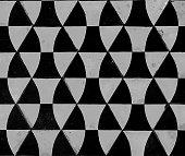 Geometric gray cement tile texture