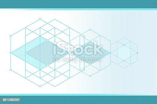 istock Geometric Intersection Abstract Background 951088392