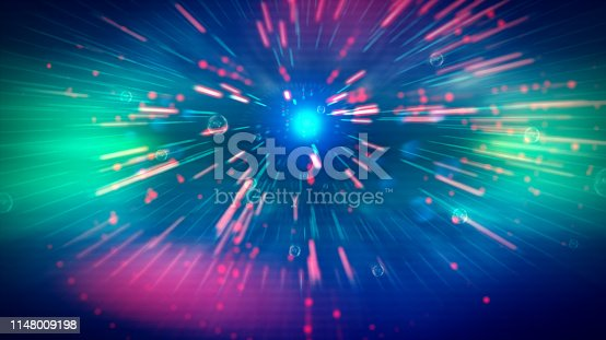 istock Geometric landscape and Futuristic digital blockchain fintech te 1148009198