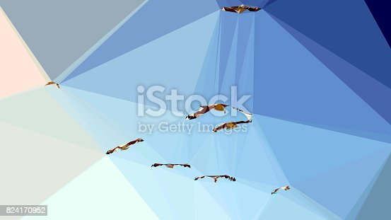 916322742 istock photo Geometric Minimalist Abstract Birds 824170952