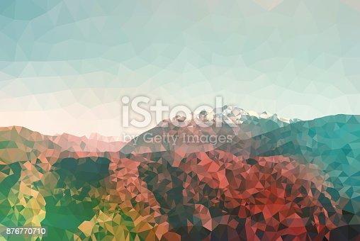 653305952 istock photo Geometric Minimalist Abstract Landscape 876770710
